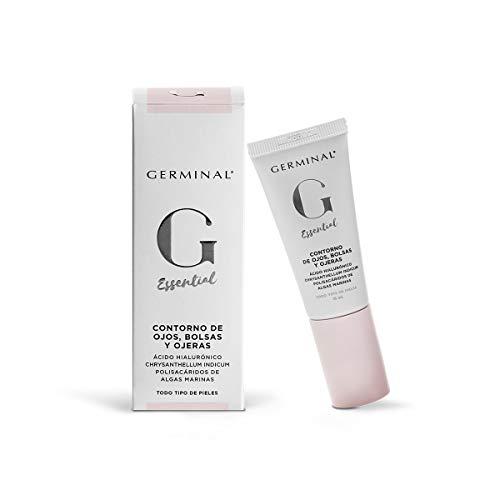 Germinal Essential Contorno de Ojos, Bolsas y Ojeras - Crema Facial Revitalizadora de Ácido Hialurónico y Cafeína encapsulada con Efecto Antiedad, Antiojeras y Antibolsas - 15ml