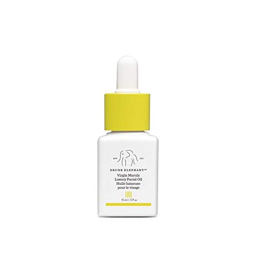 Drunk Elephant Virgin Marula Luxury Facial Oil - Vegan Anti-Aging Skin Care and Face Moisturizer - 15 Milliliters/0.5 Ounce