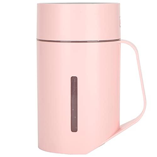 Deror Mini humidificador, Taza de humidificación Rosa, humidificador de Apagado automático de 4 Horas, para el hogar, la Oficina y el automóvil, 420 ml