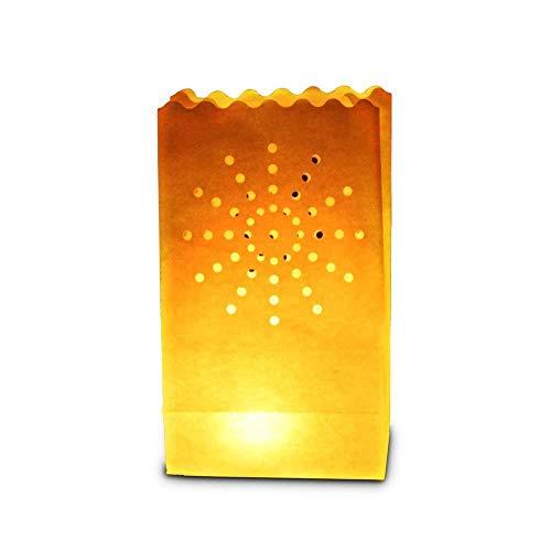 Sky Lanterns 30 x Sac de Bougie lumière de thé en Papier Ignifuge décoration - Motif feu d'artifice