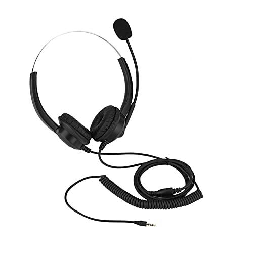 Auriculares con micrófono, estirables, para Centro de Llamadas(Enchufe de 3,5 mm)