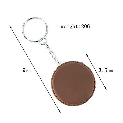 CHENSHUANG Weiche PVC-Material Macarons cremeähnliche Sandwich-Kekse, Kuchen Schlüsselring Anhänger Spielzeug kleine Geschenke