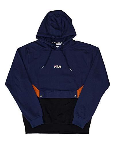 Sweatshirt mit Kapuze und Gürteltasche Fila (S, Blau)