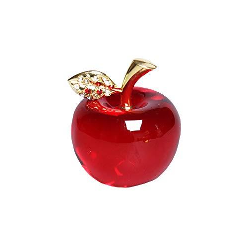 Weihnachtskristall Apfel Papiergewehr Dekoration Autoverzierungen Figur Miniatur-souvenirgeschenke Apfel Papiergewehr Kunst Glas Frucht Sammlbare Figuren Geschenke (kristallblatt)