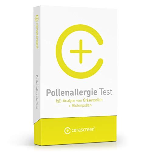 Pollenallergie Test von CERASCREEN – Pollenallergie einfach von zuhause testen | Allergietest auf 16 mögliche Auslöser | Auswertung im professionellen Fachlabor