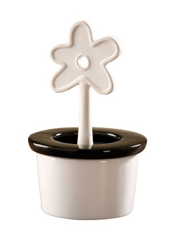 WENKO 52588100 Luftbefeuchter Blumentopf -  runder Keramik-Verdunster, Keramik, 10 x 16 x 10 cm, Weiß