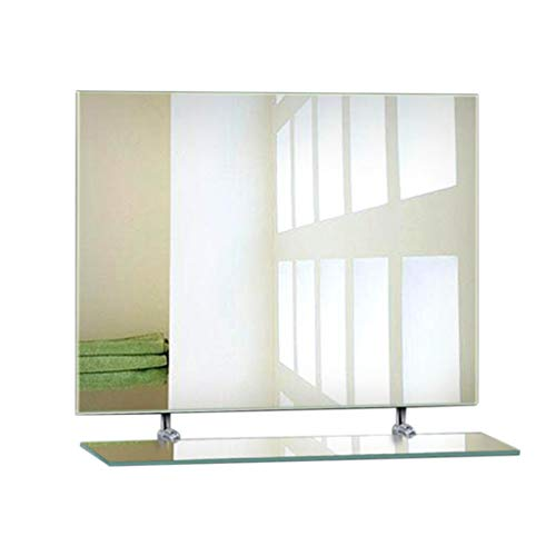 Kombinierter, rahmenloser Badezimmerspiegel + Regal, moderner, minimalistischer Wandspiegel, Badwaschspiegel/HD-Imaging, praktische Aufbewahrung, Regal, Badspiegel, Kosmetikspiegel