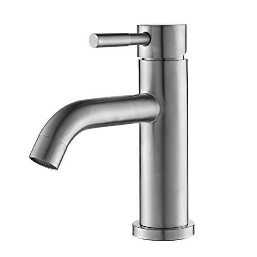 QIMEIM Grifo mezclador de lavabo grifo de baño caliente y frío solo agujero baño lavabo baño mezclador grifos