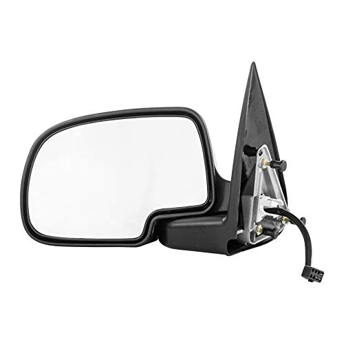 Left Driver Side Mirror for Chevy Avalanche Silverado GMC Sierra 1500 2500 (1999 2000 2001 2002) Chrome Non-Heated Power Operated Folding Outside Rear View Door Mirror - GM1320174