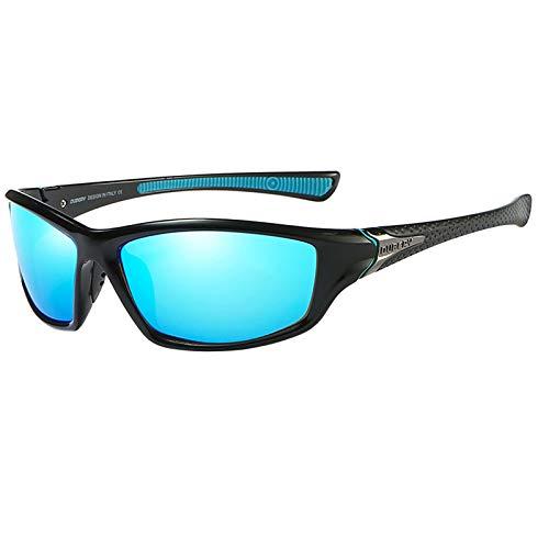 F Fityle Gafas de sol polarizadas UV400 antiimpacto gafas de ciclismo para hombres y mujeres, conducción de golf a prueba de viento gafas antiuv - Azul