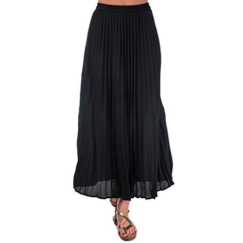 ALLEEN Womens Phoebe lange lisse rok in zwart