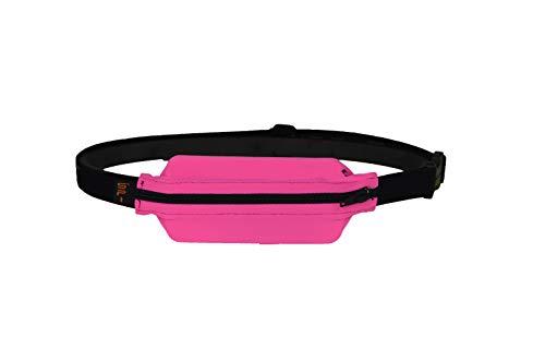 Spibelt für Diabetiker: Die hüpfbewegungen verhindert, diskret–Erwachsene Gürtel mit Loch für Insulinpumpen oder anderen medizinischen Geräten., Hot Pink with Black Zipper