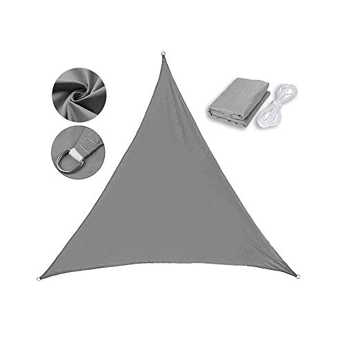 DQM Toldo Triangular Impermeable, 9,8 x 9,8 x 9,8 pies, Protector Solar de poliéster, toldo Curvo, paño de Lluvia Ligero y portátil, para terraza, jardín, pérgola