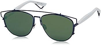 Dior Technologic Green Mirror Aviator Ladies Sunglasses