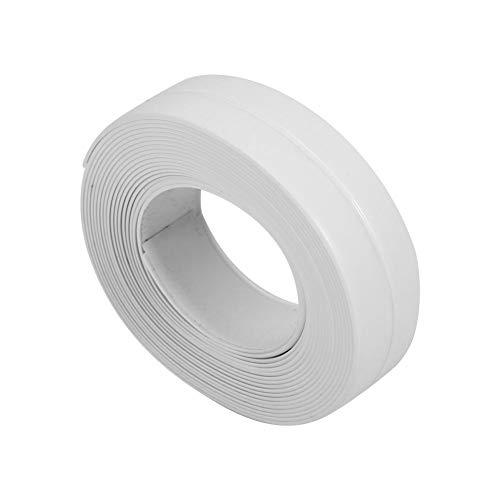 GOTOTOP Tape Caulk Strip, 3,2 M PVC Selbstklebender wasserdichter Dichtungsstreifen für Küchenspüle Toilette Badezimmer Dusche Badewanne Boden Wand Randschutz(22mm*3.2M -Weiß)