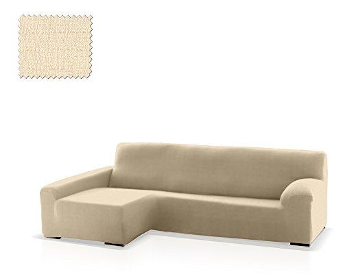 JM Textil Funda de sofá Chaise Longue Bastet, Brazo Izquierdo, tamaño estándar (220-280 Cm.), Color 00