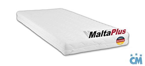 MALTA PLUS Hochwertige Matratze mit Qualitätsschaum (Oekotex Zertifikat) im Sondermaß für Kinderbetten / Babybetten / Jugendbetten. Atmungsaktive Schaumstoffmatratze Variable Maße Öko-Tex