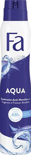 Fa - Desodorante Spray Aqua 48 horas de protección - 200 ml - Anti Manchas Blancas