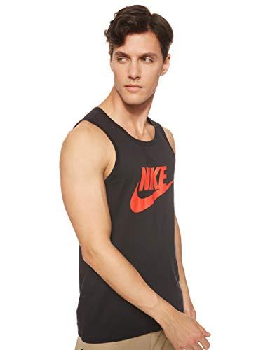 Nike Herren Sportswear Tanktop, Black/Habanero Red, M