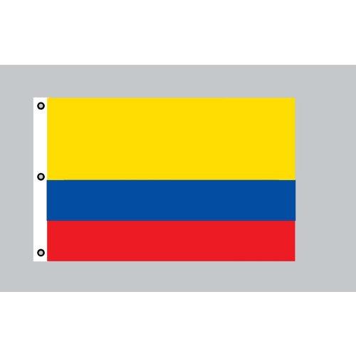 Colombie drapeau géant: 150 x 250 cm