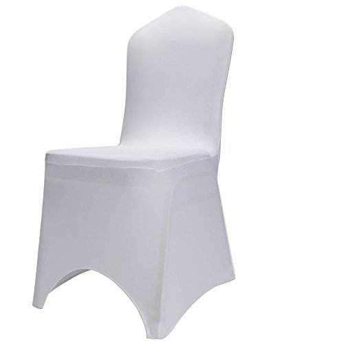 Boshen Set of 1/10/20/50/100 Pcs Hotel Banquet Dining Spandex Chair Covers (100 Pcs, Style 2)