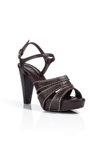 APART Damen-Schuhe Sandaletten Braun Größe 37