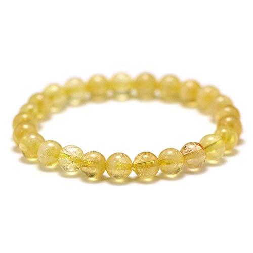 MIRACLES MINÉRAUX Bracelet perle ronde 8 mm, pierre naturelle, création artisanale française, plus de 40 choix (Citrine 8 mm)