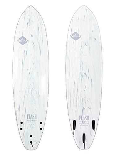 Softech Flash Eric Geiselman FCS II Surfboard White Marble 5'7'
