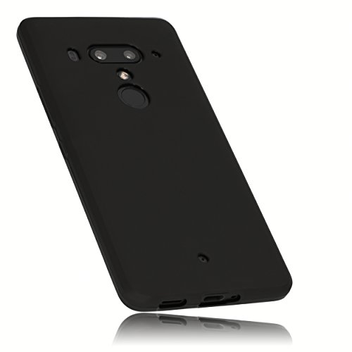 mumbi Schutzhülle kompatibel mit HTC U12+ Hülle, schwarz