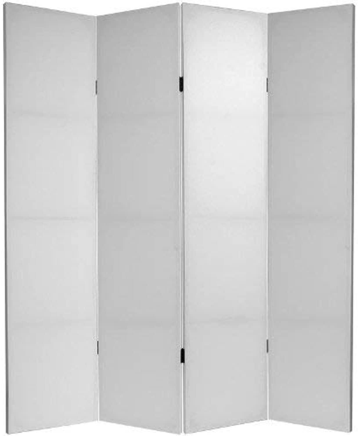 Oriental Furniture 6-Feet Tall Do It Yourself Canvas Room Divider 4 Panel, B