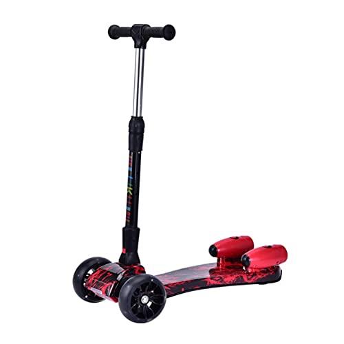Con bluetooth efecto música linterna inclinación dirección plegable scooter de los niños