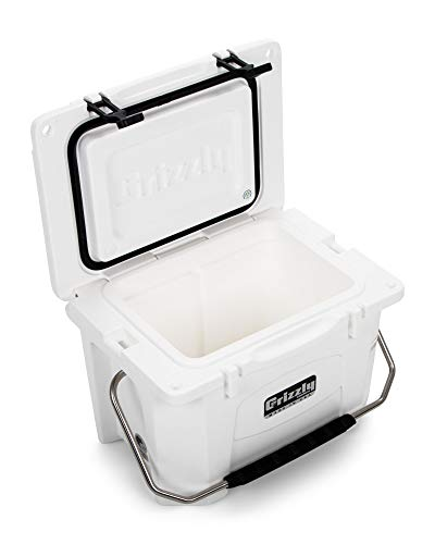Grizzly 20 Cooler, White, G20, 20 QT