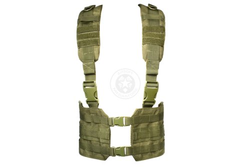 Condor MCR7 MOLLE Tactical Ronin Chest Rig Split Vest- OD MCR7-001