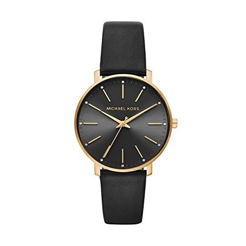 Michael Kors Damen Analog Quarz Uhr mit Leder Armband MK2747