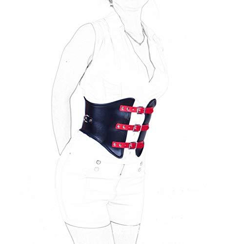 ZYAM Sexy Korsett PU Leder Punk Style Zubehör Bondage Gürtel Restraint SM Fetisch Sm Spielzeug für Frauen