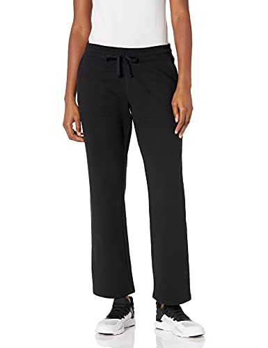 Amazon Essentials Women's Relaxed-Fit Fleece Sweatpant, Black, M