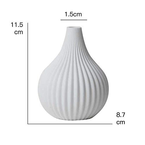 Vase Moderne Weiße Keramik Porzellan Blumenvase Für Badezimmer Büro Tischplatte Home Decoration Handmade Small Geometric Vase Füller Lightgrey