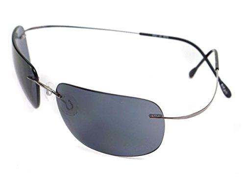 silhouette occhiali Silhouette Occhiali da Sole 8562 RUTHENIUM/BLUE GREY taglia unica uomo