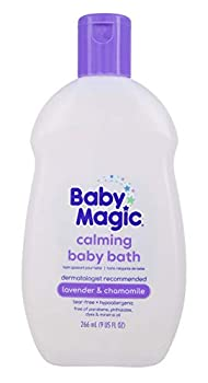 Baby Magic Calming Baby Bath  9oz   Lavender & Chamomile   Tear-Free Free of Parabens Phthalates Sulfates and Dyes