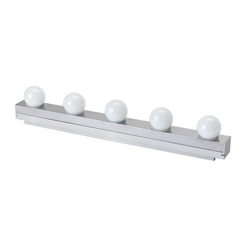 Ikea 403.597.61 Ledsjou - Aplique de pared LED, acero inoxidable