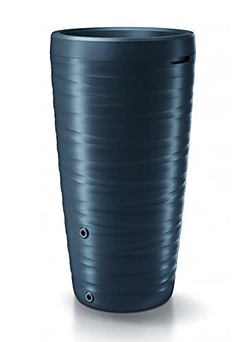Regenwassertonne Regentonne Regenbehälter Regentank Regenfass Amphore 240L Welle-Disign 3D mit Wasserhahn (Anthrazit)