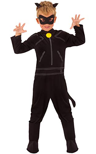 Rubie's Miraculous Ladybug Child's Cat Noir Costume, Small