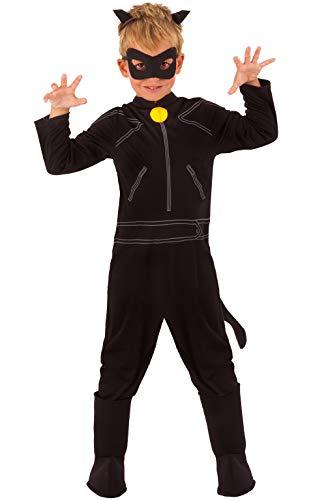 Ladybug - Disfraz de Cat Noir para niños, talla 7-8 años (Rubie