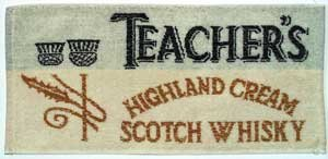 Teachers Whiskey Baumwolle Bar Towel (pp)