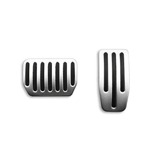 RUIYA Fußpedal Schutzpads Pedale Set Rutschfeste Leistung Fußpedalauflagen Beschleuniger-Fußpedale Aluminium Auto Fußpedalauflagen für Model 3 (Silber)