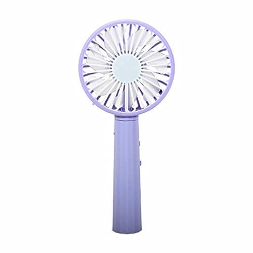 Haowen 500mah USB Ventilador eléctrico Humidificador Hidratación Vaporizador de Agua Ventilador Ventilador portátil púrpura
