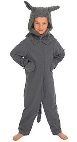 Fancy Me - Costume de Grand Méchant Loup pour Enfants Fille/garçon de 4-10 Ans - Gris, 4-6 Ans (116cm)