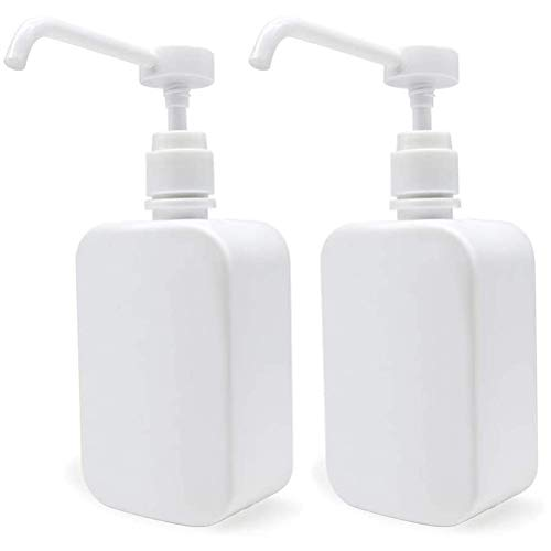Sysow Dispensador de jabón, dispensador de loción de plástico para 500 ml, dispensador de jabón Recargable, rociador de Alcohol, dispensador de Aerosol para cocinas, Oficina, Escuela, 1 Pieza