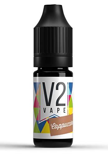 V2 Vape Cappuccino AROMA / KONZENTRAT hochdosiertes Premium Lebensmittel-Aroma zum selber mischen von E-Liquid / Liquid-Base für E-Zigarette und E-Shisha 10ml 0mg nikotinfrei