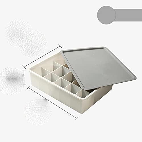 Caja de almacenamiento combinada de varios tamaños Caja de almacenamiento de ropa interior Caja de almacenamiento de calcetines Caja de almacenamiento de ropa interior Divisor de cajón 1pc, con tapa